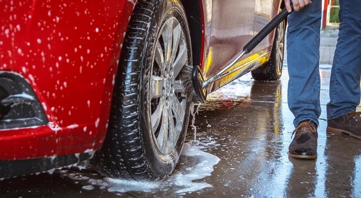 perie spalare auto cu detergenti